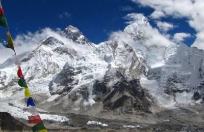 Le Haut col du Renjola Gokyo au pied Everest