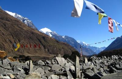 Le tour du MANASLU par des villages Gurungs