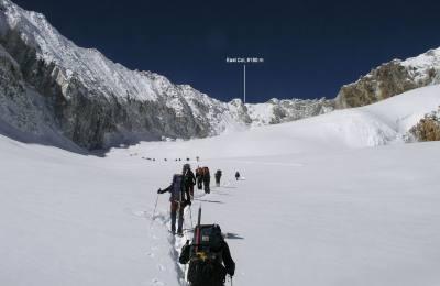 Traversée Sherpani col (6100m) et Amphulaptsa (5700m) par camp base Makalu